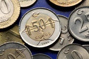 munten van Turkije foto