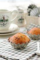 Banaanchocolade muffins foto