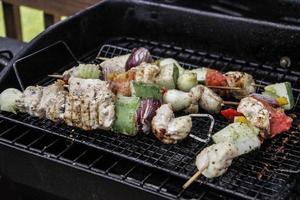 kabobs op de grill