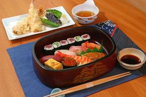 sushi en tempura foto