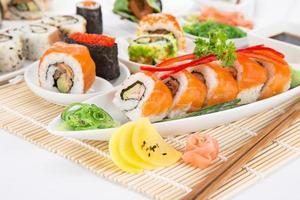 Japanse zeevruchten sushi set