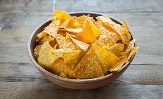 kaas nacho's in de kom foto