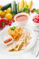 originele Mexicaanse quesadilla de pollo foto