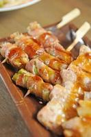 yakitori - japan grill vlees foto