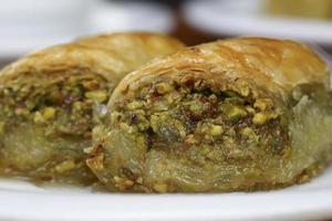 perfecte baklava met pistache foto