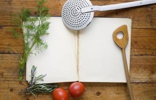 kookboek, receptenboek foto