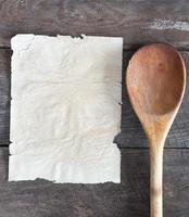 oud receptenboekje foto
