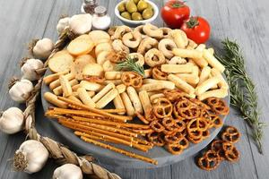 zout snack assortiment foto