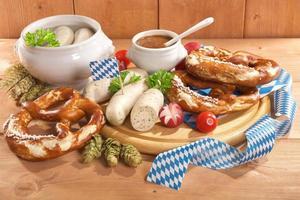 Beiers ontbijt met kalfsworst foto