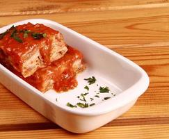 lasagne op schotel foto
