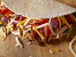 zacht vlees taco foto