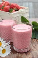 aardbeienmilkshake. foto
