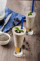 bosbessen milkshake foto