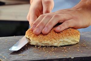 Bakker brood. foto
