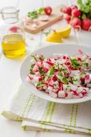 radijs lente salade met kruiden foto