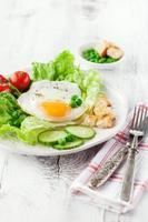 ontbijt met gebakken ei