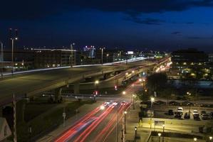 milwaukee stadsbeeld van het verkeer foto
