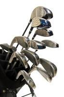 golfclubs op wit foto