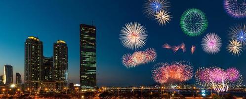 seoul fieworks festival foto