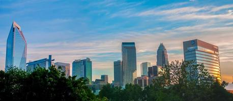 uptown Charlotte, Cityscape van Noord-Carolina foto