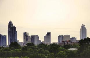 skyline van Charlotte foto