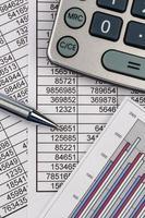rekenmachine en statistiek foto