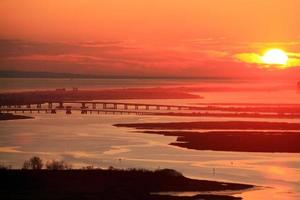 Long Island-zonsondergang