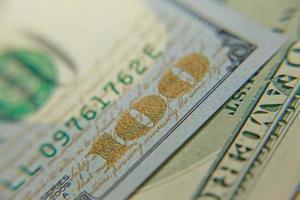 honderd dollar (nieuw ontwerp) bankbiljet macrofoto.