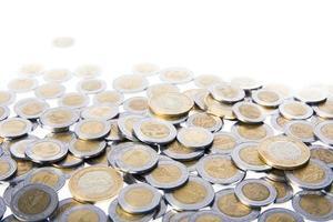 Mexicaans geld dat op wit wordt geïsoleerd foto