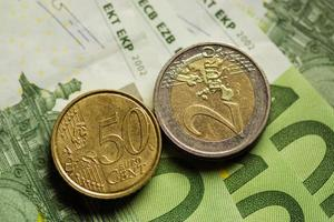 euromunten en bankbiljettengeld.