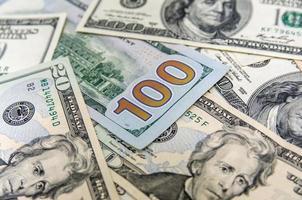 achtergrond met geld Amerikaanse dollars foto