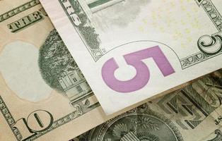 Amerikaanse papieren valuta foto