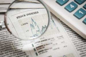 aandelenindex foto
