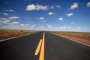 woestijn snelweg