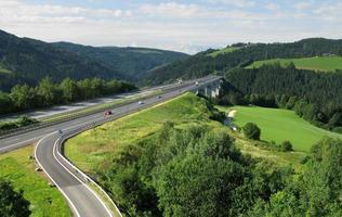 snelweg in Oostenrijk