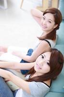 Aziatische jonge vrouw foto
