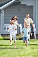 een actief gezin foto