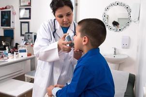 behandeling van astma foto