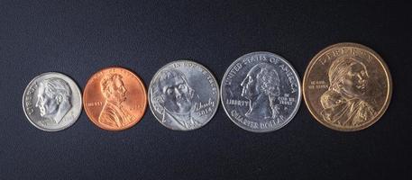 """Amerikaanse munt met de woorden """"in god we trust"""" respect foto"""