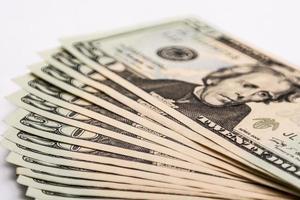 Amerikaanse dollarbiljetten, geldwisselingen foto