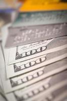dollars en creditcard foto