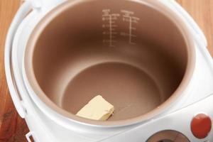 het proces van het smelten van boter foto