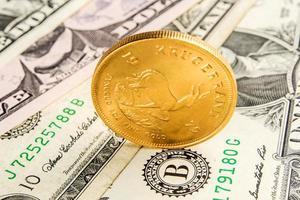 Amerikaanse dollar ondersteund door goud foto