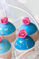 bruiloft cupcakes foto