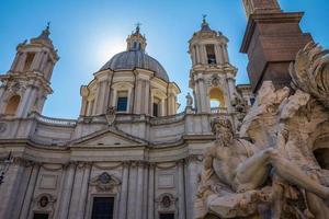Piazza Navona in Rome Italië foto
