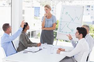 business team met een bijeenkomst foto