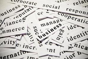 concept van woorden in verband met het bedrijfsleven foto