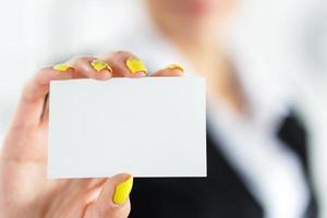 een gebaar introduceren tijdens een formele vergadering foto