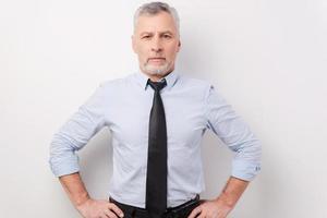 zelfverzekerde en succesvolle zakenman. foto