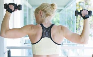 fitness vrouw opleiding foto